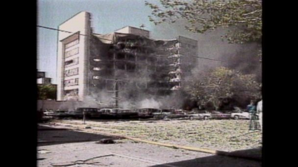 The Alfred P. Murrah federal building in downtown Oklahoma City was bombed.