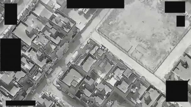 VIDEO: Drone video of ISIS forcibly moving civilians into a West Mosul home as 'human shield'