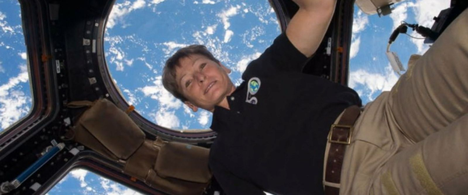 VIDEO: Whitson, 57, broke the record for the most cumulative time in space by an American astronaut early Monday, streaking past the 534-day record held by Jeff Williams.
