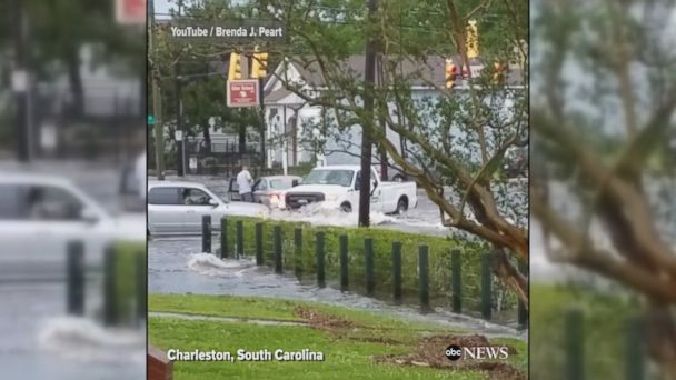 VIDEO: Dramatic footage shows flooding across a number of U.S. states, including Virginia, North Carolina and South Carolina.