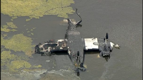 The Cessna 421 crashed into a small pond in Huntsville around 10:38 a.m., Texas Department of Public Safety Public Information Officer Sgt. Eric Burse told ABC News.
