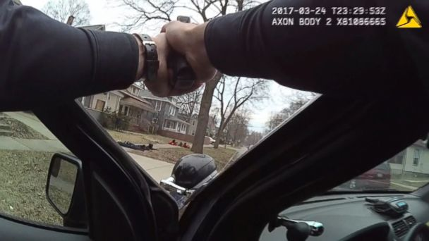 VIDEO: Police bodycam video shows youths detained at gunpoint.