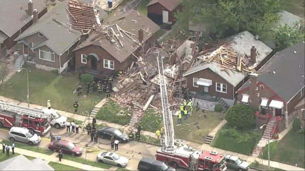VIDEO: A powerful home explosion in a St. Louis neighborhood