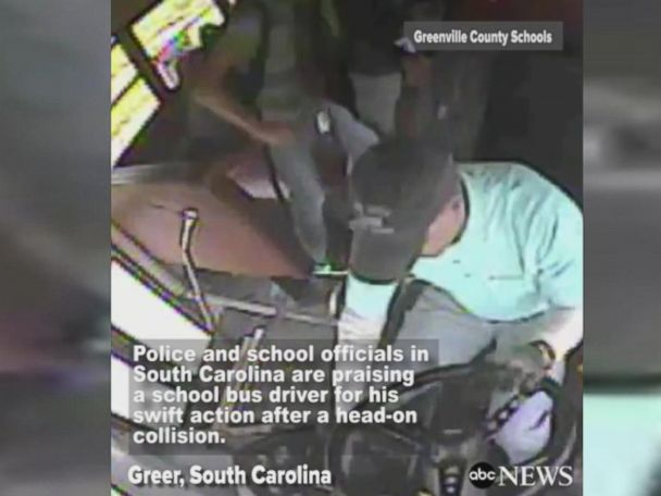 WATCH:  Officials praise S. Carolina school bus driver's actions after head-on collision