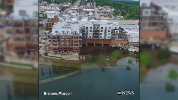VIDEO: Drone video shows flooding in Branson, Missouri after heavy rains. The U.S. Army Corps of Engineers opened the spillway on Table Rock Lake to protect the Table Rock Dam.
