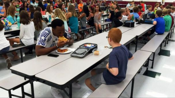 VIDEO: Football star shows simple act of kindness to boy with autism