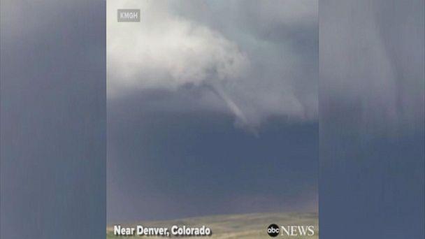 VIDEO: Funnel cloud forms east of Denver