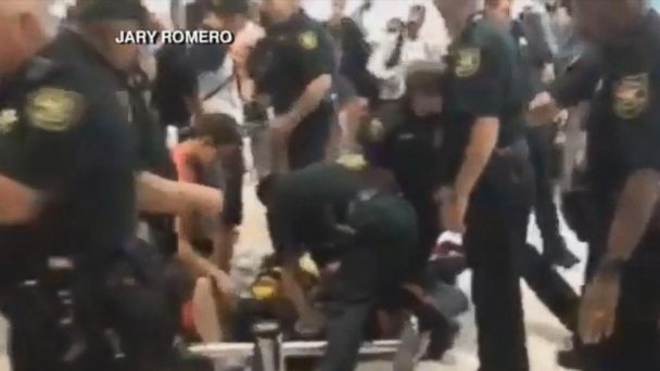 VIDEO:  Police called to restore order as fights erupt at Spirit Airlines terminal in Fort Lauderdale
