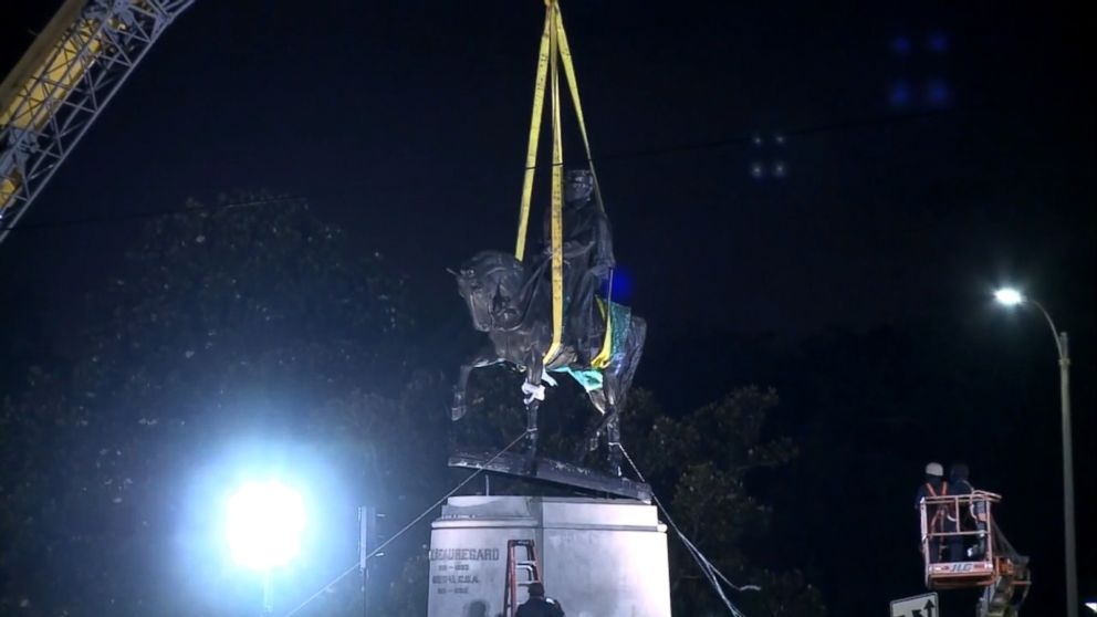 VIDEO: The removal of a massive statue of Gen. P.G.T. Beauregard followed two others.