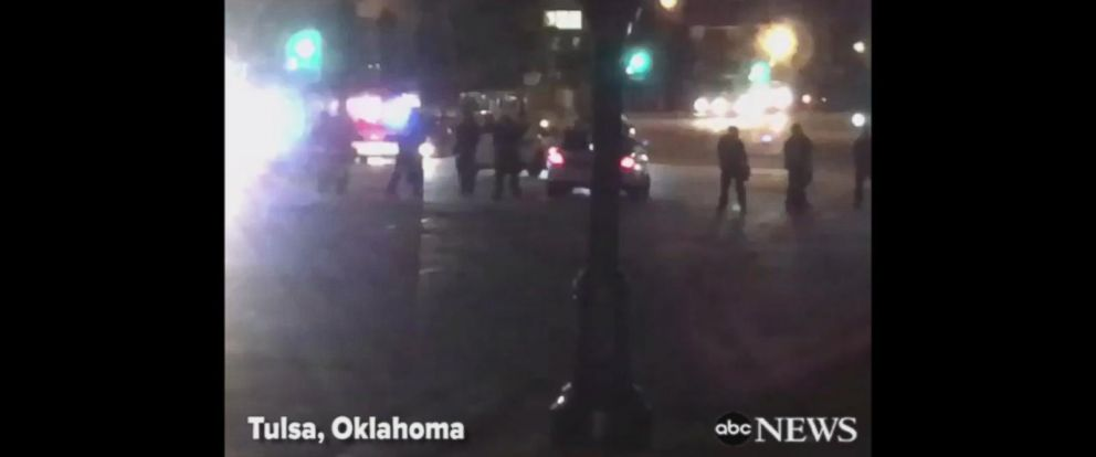 VIDEO: Protesters block Tulsa intersection after cop acquitted in shooting of unarmed black man