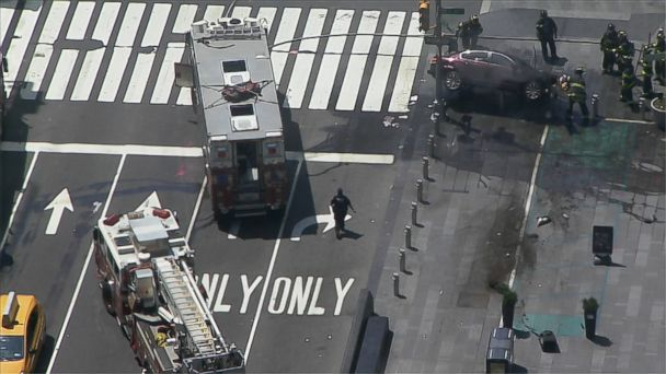 VIDEO: Multiple pedestrians were reportedly struck by a car in Times Square today, ABC station WABC in New York said.