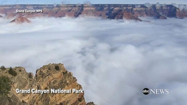 VIDEO:  Time-lapse shows cloud inversion in Grand Canyon