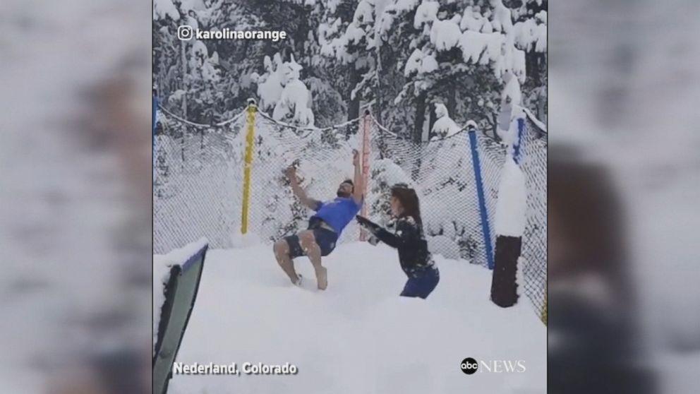 WATCH:  Snowstorm in Colorado in May