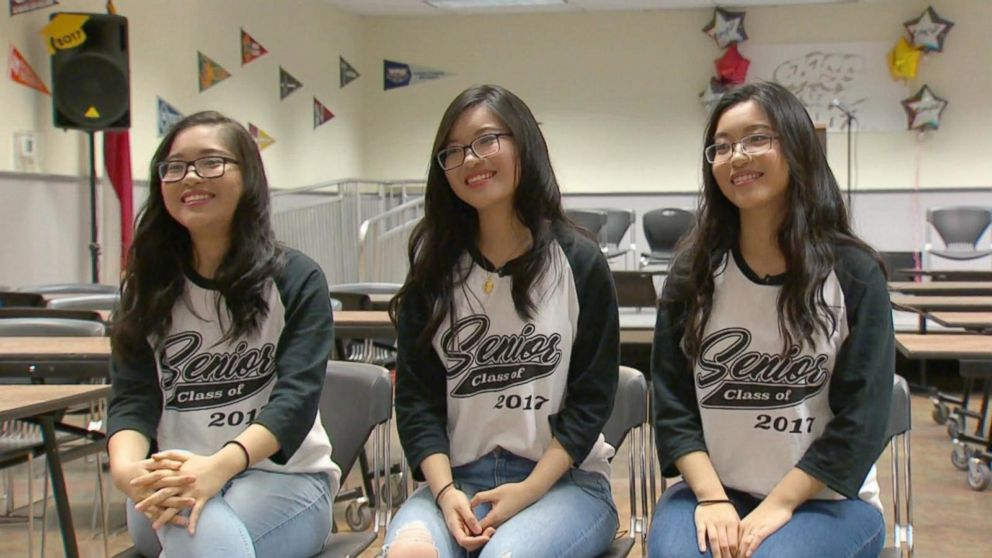 The 18-year-old Texas sisters graduated first, second and third out of 148 graduates.