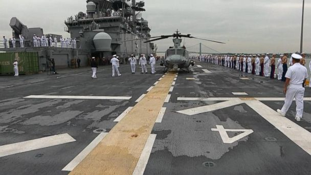 VIDEO: Tour the flight deck of a US Navy assault ship