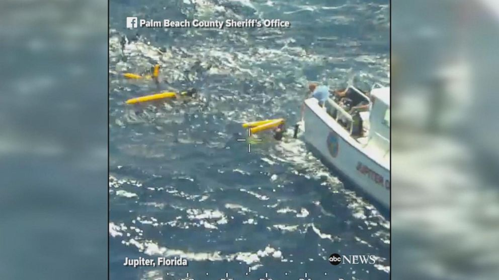 Five divers separated from a commercial dive boat in Jupiter, Florida, were rescued by the Palm Beach County Sheriff's Office aviation and marine units.