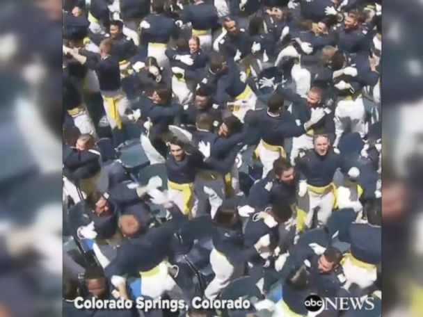 WATCH:  Cadets celebrate Air Force Academy graduation