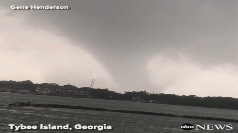 VIDEO: Funnel cloud spotted off Tybee Island, Georgia