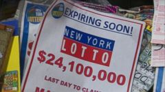New York lottery winner comes forward to claim $24 million ticket.