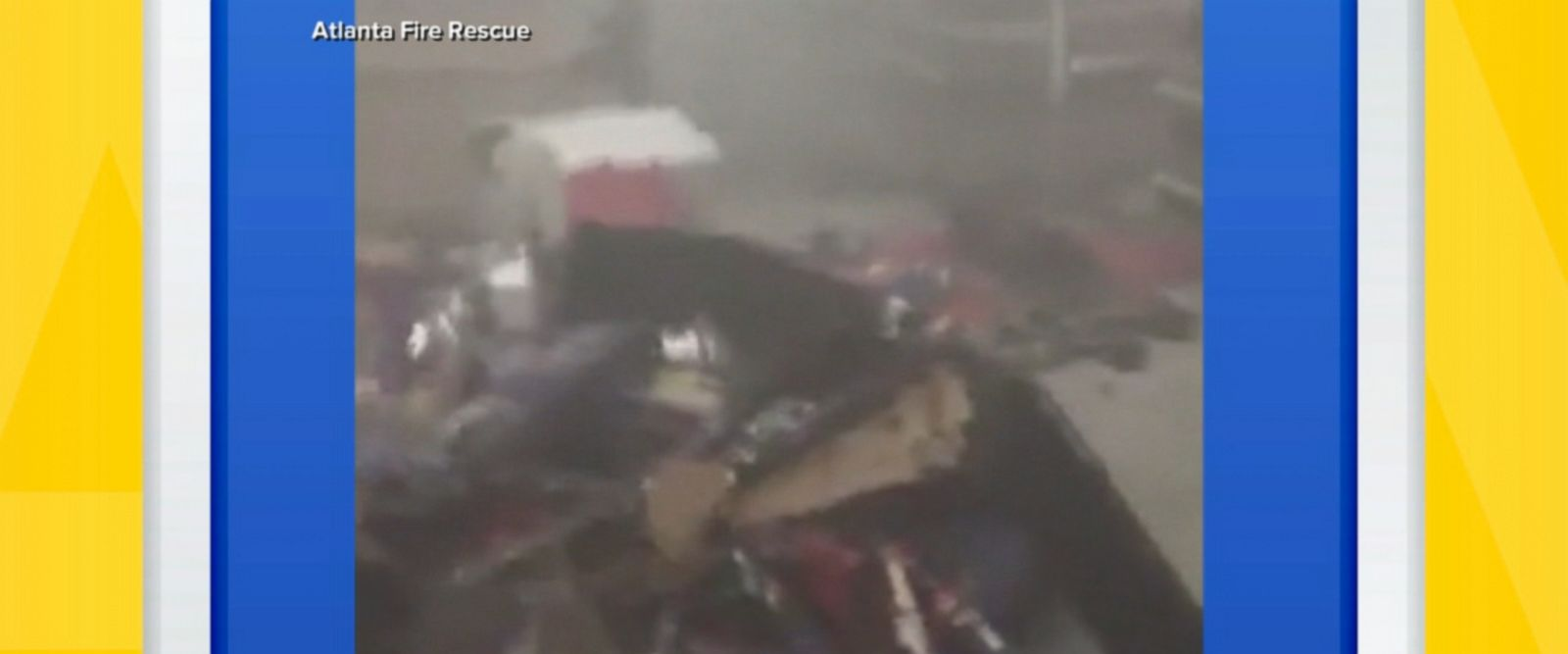 Shoppers at an Atlanta grocery store had to abandon their carts and leave the store after someone ignited a fireworks display inside, setting off the sprinkler system.