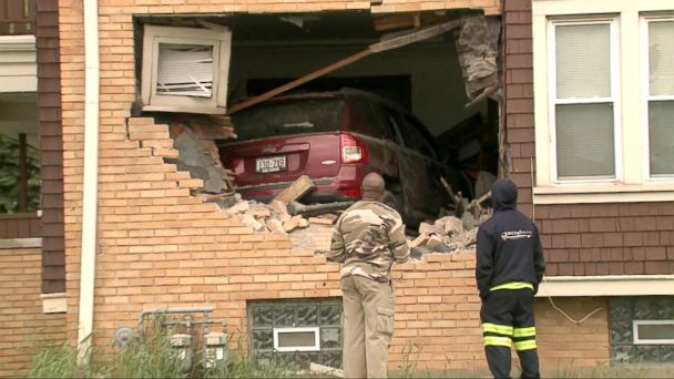 The driver told police she blacked out before crashing through the duplex.
