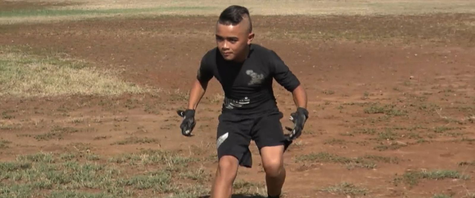 VIDEO: Tito Lacaden is a wide receiver for the All-Blacks Crusaders in Kapolei, Hawaii.