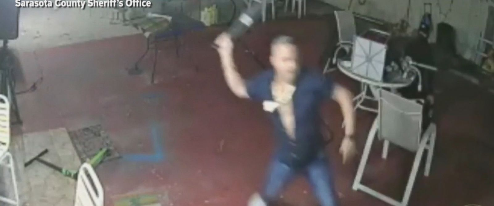 A Florida homeowner was able to disarm an alleged robber by using a machete.