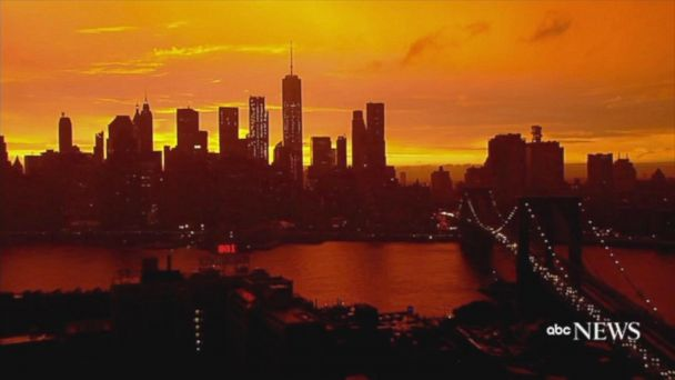 VIDEO:  Time-lapse captures colorful NYC sunset