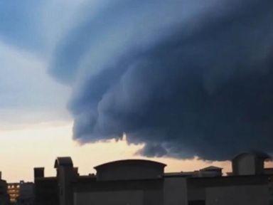 WATCH:  Giant shelf cloud moves across New Jersey sky
