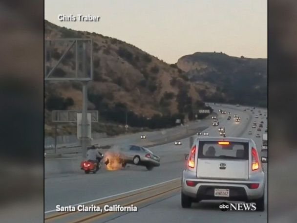 WATCH:  Alleged road rage triggers massive crash in California