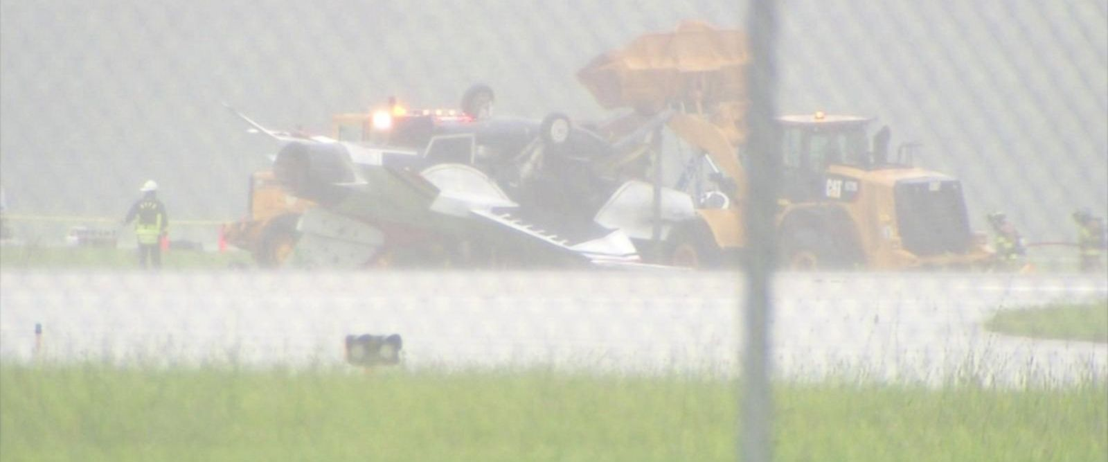 No one was killed in the accident, which involved an F-16 Thunderbird.