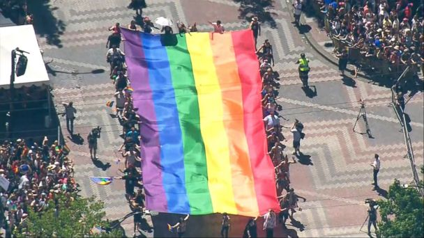 VIDEO: The celebratory tone of gay pride marches from San Francisco to Istanbul on Sunday were undergirded by an atmosphere of political expression and protest.