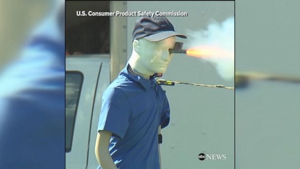 The United States Consumer Product Safety Commission demonstrated the danger of improper use of fireworks ahead of July 4th weekend.