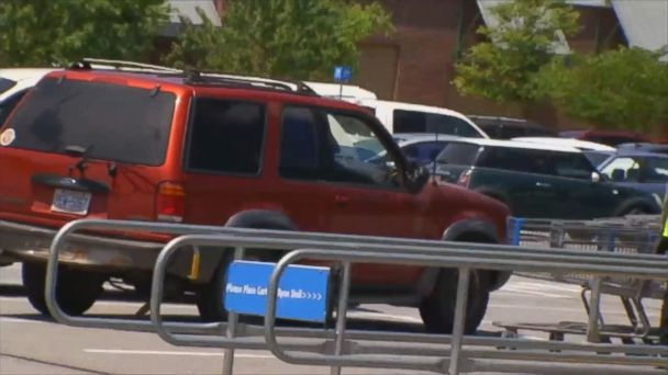 VIDEO: The female driver say she chased a man and struck hum with her SUV in a Walmart parking lot.