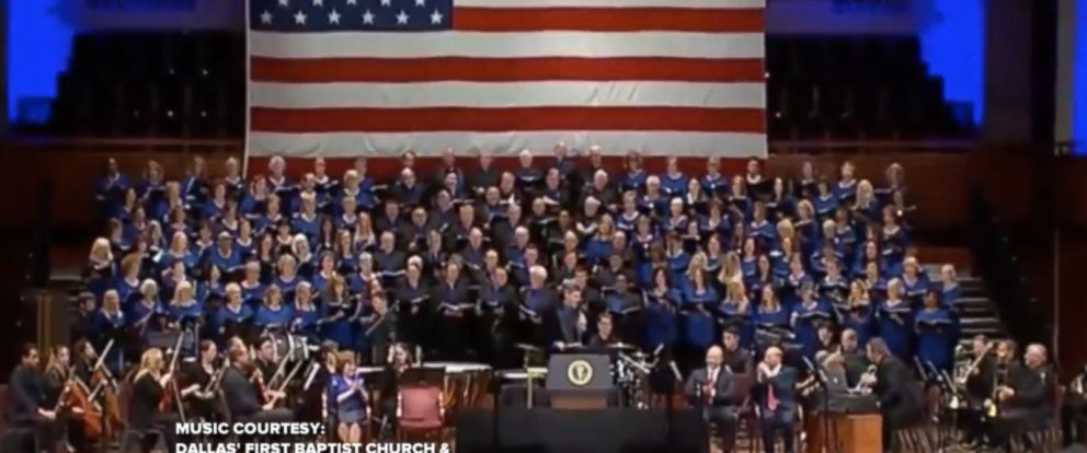 """President Trump started Independence Day with a tweet featuring a church choirs performing its rendition of """"Make America Great Again."""""""