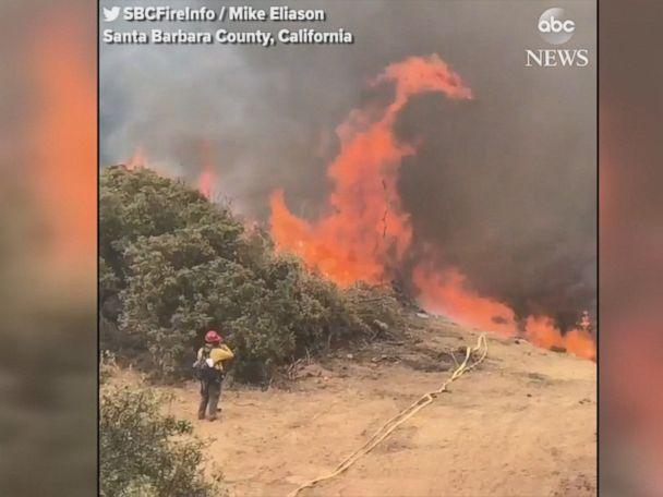 WATCH:  Whittier fire scorches California