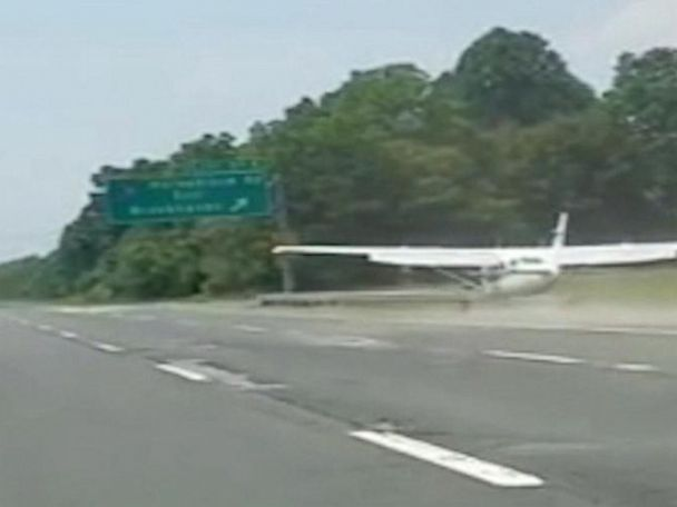 WATCH:  Small plane makes emergency landing on Long Island highway