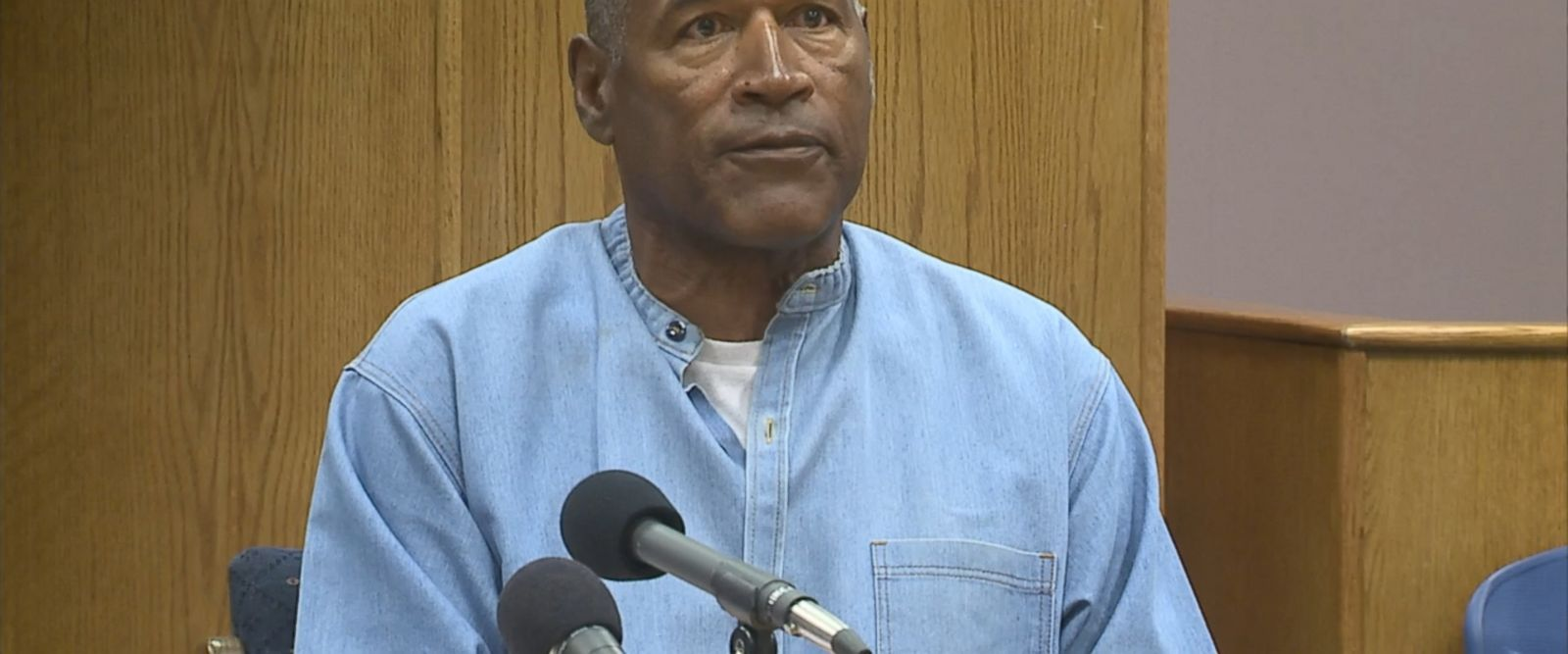"O.J. Simpson, 70, delivered a rambling account of the case to the parole board today, maintaining that he didn't intend to steal but ""wish this would have never happened."""