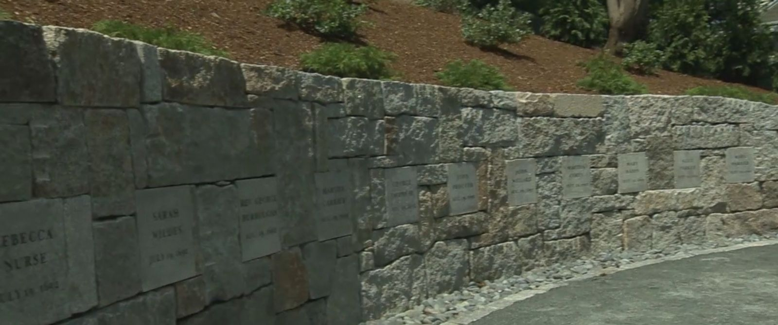VIDEO: The Massachusetts city unveiled a memorial for the 20 people put to death in 1692.