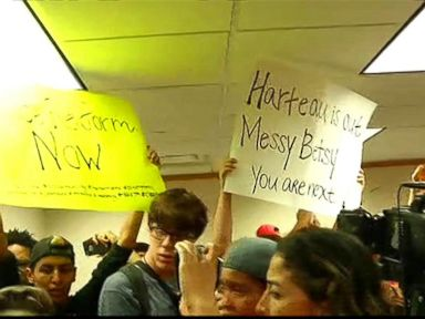 WATCH:  Protest breaks out at Minneapolis mayor's news conference