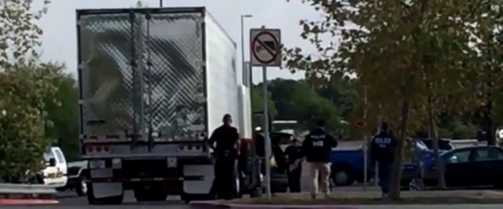 VIDEO: A total of 39 people, including children, were recovered from the tractor-trailer parked outside a San Antonio, Texas, Walmart this weekend. Ten people, all adult men, died, and 29 people were being treated at hospitals, officials said.