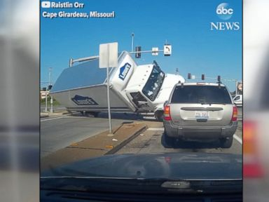 WATCH:  Chain-reaction crash caught on camera