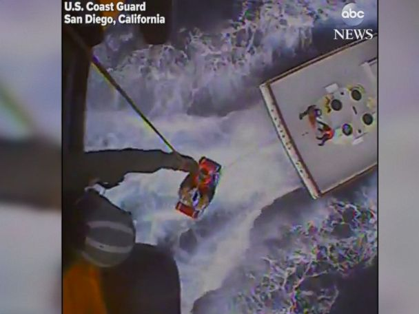 WATCH:  Fisherman rescued from boat after falling overboard