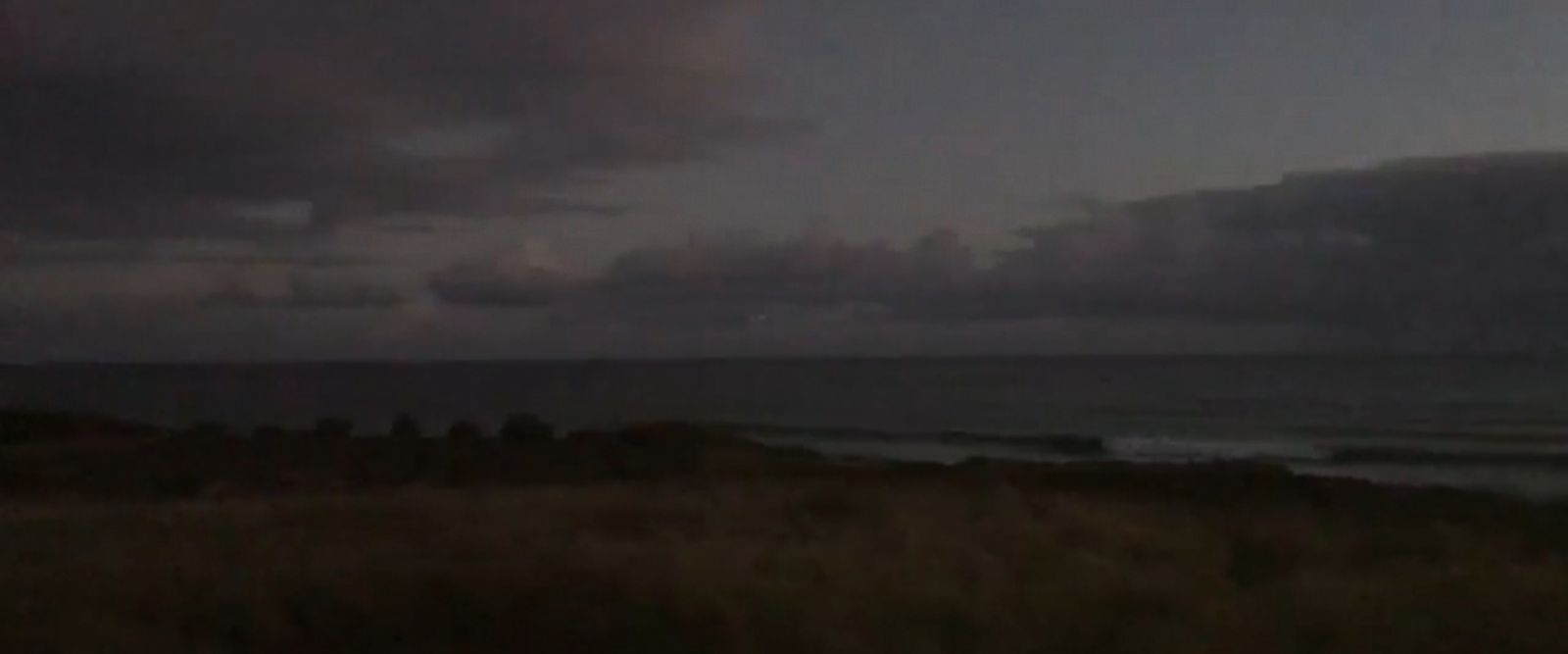 VIDEO: A debris field was spotted near Kaena Point on the island of Oahu.