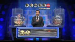 VIDEO: The numbers drawn were 9, 15, 43, 60, 64. The Powerball was 4.