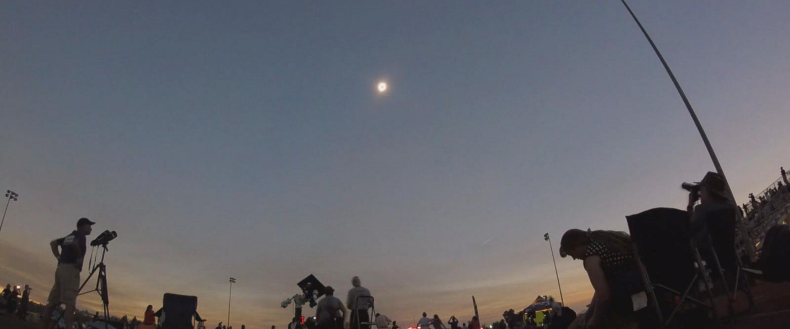 A historic total solar eclipse arced across the United States from west to east today.