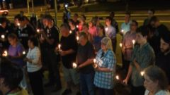 Following a tragic morning in Jefferson County, Ohio, dozens gathered for a candlelight vigil in honor of the common pleas judge who was gunned down Monday morning.