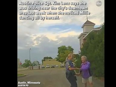 WATCH:  Minnesota police officer gets out of squad car to dance with 92-year-old