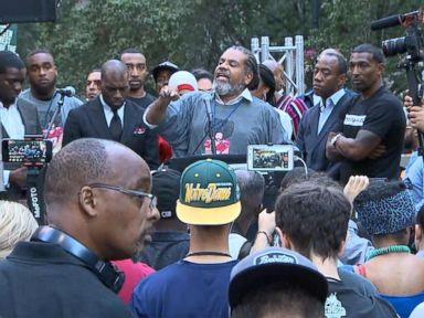 WATCH:  Colin Kaepernick supporters protest in front of NFL headquarters