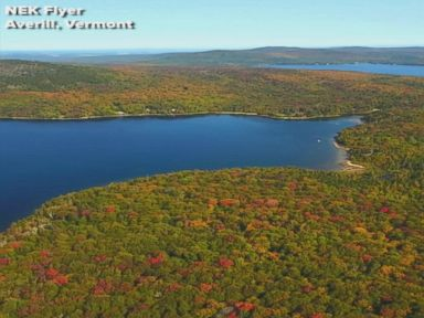 WATCH:  Drone footage captures early fall foliage in Vermont